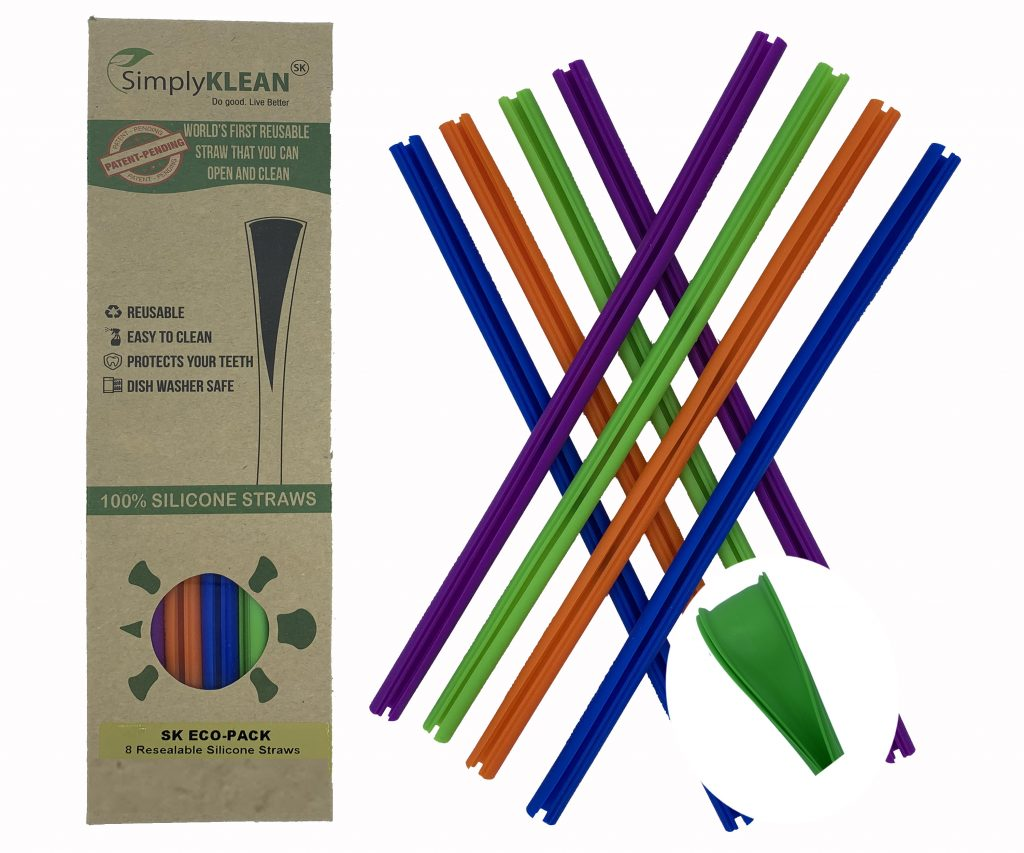 Openable, Reusable Silicone Straws